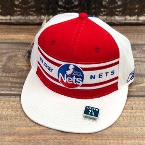 New Jersey Nets Flat Brim Hat Hardwood Classics